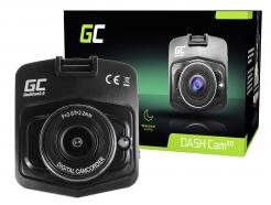 Rejestrator samochodowy Green Cell Full HD z obsługą trybu nocnego