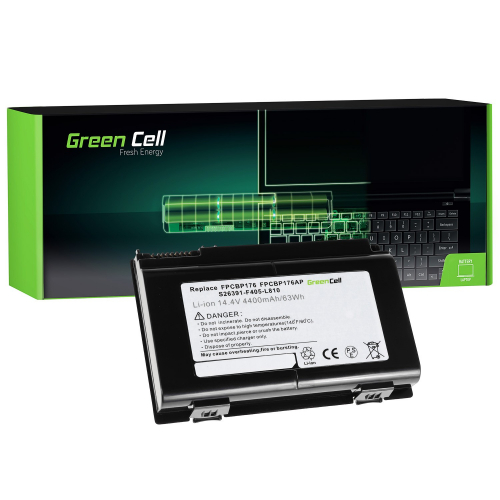 Bateria Green Cell FPCBP176 do Fujitsu LifeBook E8410 E8420 E780 N7010 AH550 NH570