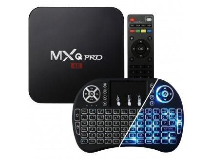Zestaw TV Box MXQ PRO (1GB RAM, 8GB eMMC, 4x2.0GHz, Android 6.0 Marshmallow) + Klawiatura Green Cell