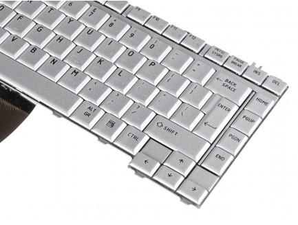 Klawiatura do laptopa Toshiba A200 A205 A300 L300 M200 Srebrna