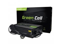 Przetwornica napięcia Inwerter Green Cell® tryb UPS 12V na 230V Czysta sinusoida 300W/600W do Pompy centralnego ogrzewania
