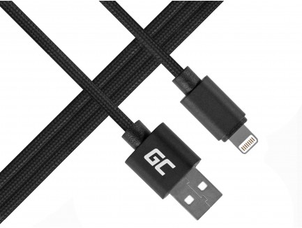 Kabel Przewód Green Cell Lightning-USB do Apple iPhone Nylon 1m