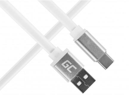 Kabel Przewód Green Cell USB-C Płaski 25cm