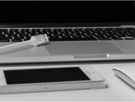 Kabel Przewód Green Cell Lightning-USB do Apple iPhone Płaski 25cm