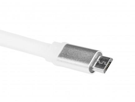 Kabel Przewód Green Cell micro USB Płaski 25cm