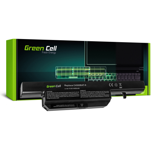 Bateria Green Cell C4500BAT-6 do Clevo C4500 C5500 W150 W150ER W150ERQ W170 W170ER W170HR