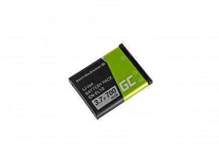 Bateria Green Cell ® EN-EL10 do Nikon Coolpix S60, S80, S200, S210, S220, S500, S520, S3000 3.7V 700mAh