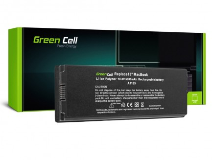 Bateria Green Cell A1185 do Apple MacBook 13 A1181 (2006, 2007, 2008, 2009)