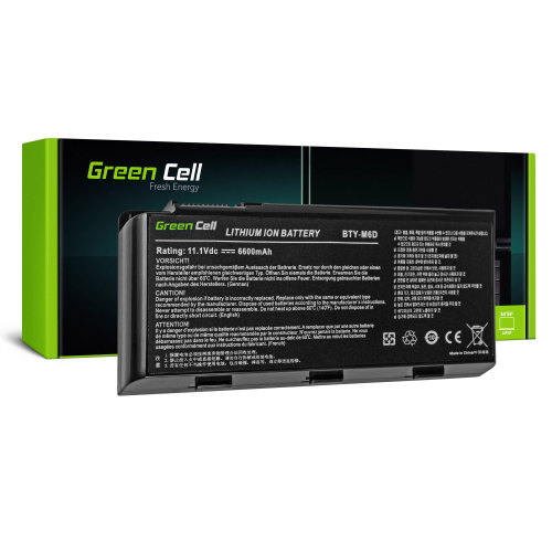 Bateria Green Cell BTY-M6D do Laptopa MSI GT60 GT70 GT660 GT680 GT683 GT780 GT783 GX660 GX680 GX780