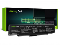 Bateria akumulator Green Cell do laptopa Sony Vaio VGP-BPS9A/B VGP-BPS10 VGP-BPS9B 11.1V 6 cell CZARNA