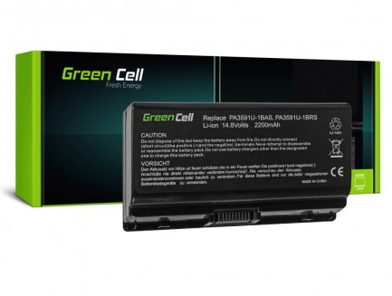 Bateria Green Cell PA3591U-1BRS PA3615U-1BRM do Toshiba Satellite L40 L45, Equium L40