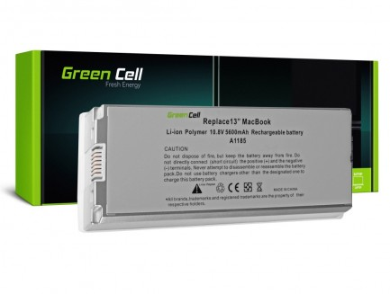 Biała Bateria Green Cell A1185 do Apple MacBook 13 A1181 (2006, 2007, 2008, 2009)