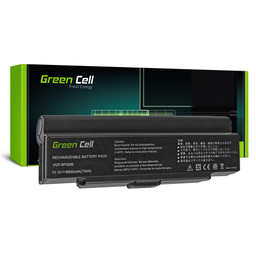 Bateria Green Cell VGP-BPS9/B do Sony Vaio VGN-NR CR AR570 AR670 AR770