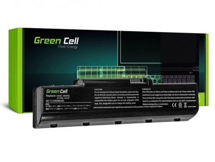 Bateria Green Cell AS07A31 AS07A41 AS07A51 do Acer Aspire 4710 4720 5735 5737Z 5738 6 cell 11.1V