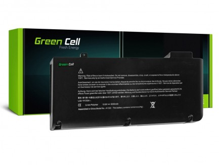 Bateria Green Cell A1322 do Apple MacBook Pro 13 A1278 (Mid 2009, Mid 2010, Early 2011, Late 2011, Mid 2012)