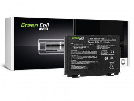 Bateria Green Cell do laptopa Asus K40 K50IN K50IJ K61IC K70IJ A32-F82 A32-F52 10.8V