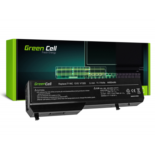 Bateria Green Cell T114C do Dell Vostro 1310 1320 1510 1511 1520