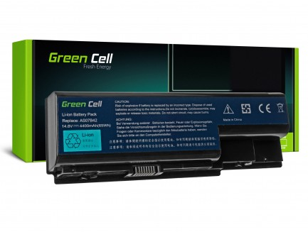 Bateria Green Cell AS07B32 AS07B42 AS07B52 AS07B72 14.8V do Acer Aspire 7220G 7520G 7535G 7540G 7720G