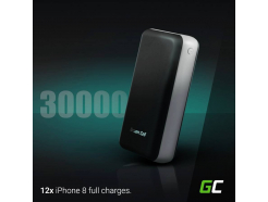 Power Bank Green Cell 30000mAh Szybkie Ładowanie Qualcomm Quick Charge 3.0