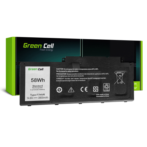 Bateria Green Cell F7HVR do Dell Inspiron 15 7537 17 7737 7746, Dell Vostro 14 5459