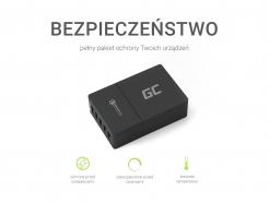 Uniwersalna ładowarka sieciowa Green Cell z funkcją szybkiego ładowania, 5 portów USB, QC 3.0