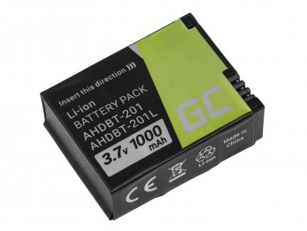 Bateria Green Cell ® AHDBT-201 AHDBT-301 AHDBT-302 do GoPro HD HERO3 HERO3+ 3.7V 1000mAh