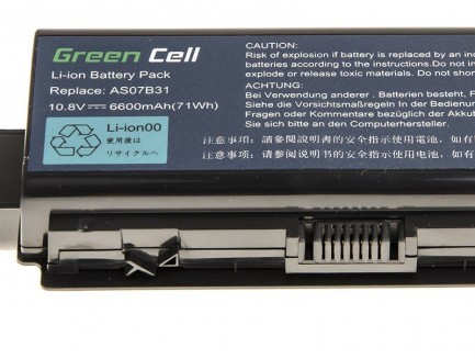 Bateria akumulator Green Cell do laptopa Acer Aspire 5930 7535 AS07B31 AS07B41 AS07B61 11.1V 9 cell