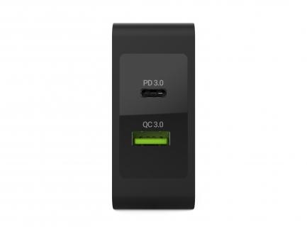 Ładowarka Green Cell USB-C 30W PD z portem USB QC3.0 i przewodem USB-C do Apple MacBook 12, Lenovo Yoga Tab 3 Plus i innych