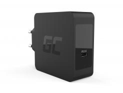 Ładowarka Green Cell USB-C 60W PD zprzewodem USB-C doApple MacBook Pro 13, Asus ZenBook, HP Spectre, Lenovo ThinkPad iinnych