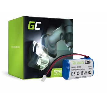 Bateria Green Cell (0.8Ah 7.4V) 01866-00.600.02 Gardena 01864-29 01866-29 01815-20 1815-U 1864-29 1866-29 Plus Solar