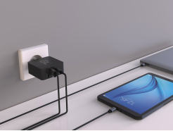 Ładowarka Green Cell USB-C 45W PD z przewodem USB-C i dodatkowym portem USB do Asus ZenBook, HP Spectre, HP Envy x2 i innych