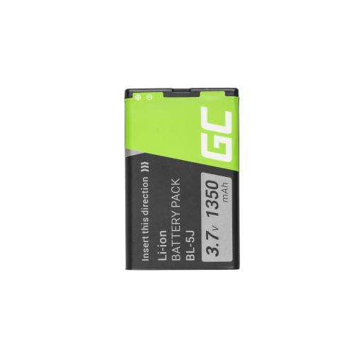 Bateria Green Cell BL-5J do telefonu Nokia Asha 302 Lumia 520 5800 5230 302