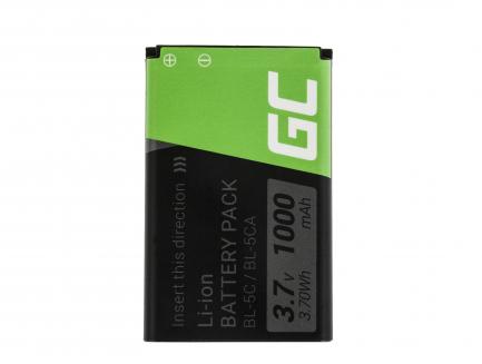Bateria Green Cell BL-5C do telefonu Nokia 105 2700 3110 5130 6230 E50