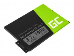 Bateria Green Cell 170-1032-00 doczytnika e-book Amazon Kindle III Wi-Fi 3G Keyboard B006 B008 B00A BOO6 3rd Gen, 1900mAh