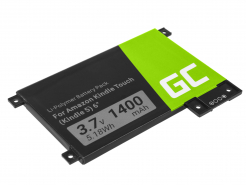 Bateria Green Cell 170-1056-00 doczytnika e-book Amazon Kindle Touch 3G D01200 DR-A014 B00F B010 B011 4th Gen, 1400mAh