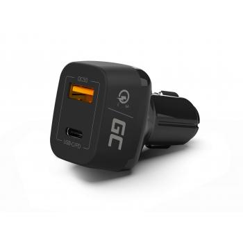 Green Cell Ładowarka Samochodowa USB-C Power Delivery PD 30W i USB Quick Charge 3.0
