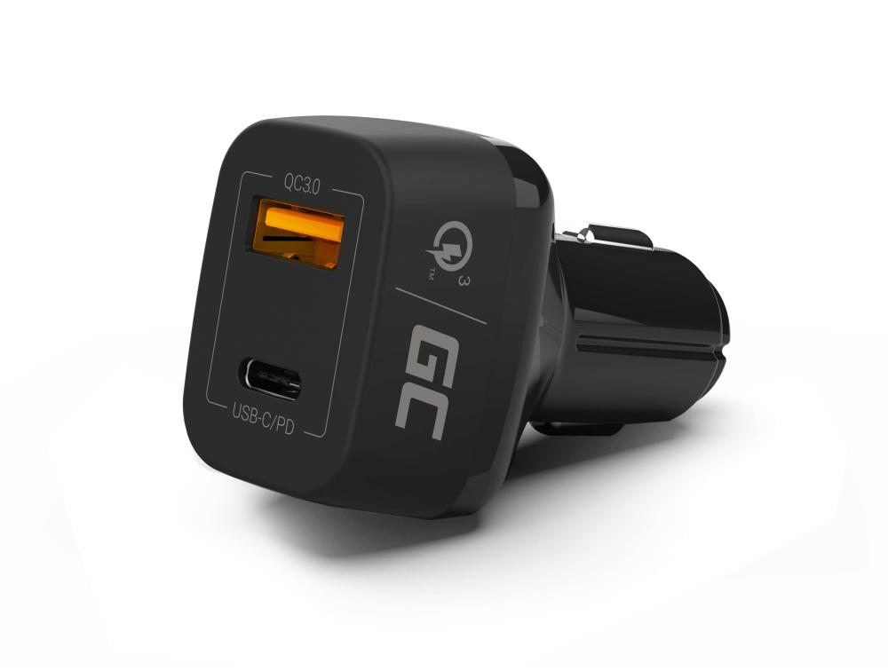 Green Cell Ładowarka Samochodowa USB C Power Delivery PD i USB Quick Charge 3.0