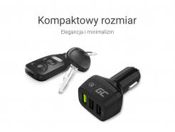 Green Cell Ładowarka Samochodowa 3xUSB Quick Charge 3.0