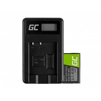 Bateria NP-BN1 i Ładowarka BC-CSN Green Cell ® do Sony Cyber-Shot DSC-QX10 DSC-QX100 DSC-TF1 DSC-TX10 DSC-W530 3.7V 600mAh