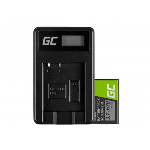 Bateria NP-BN1 i Ładowarka BC-CSN Green Cell ® do Sony Cyber-Shot DSC-QX10 DSC-QX100 DSC-TF1 DSC-TX10 DSC-W530 3.7V 630mAh