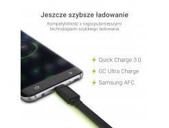 Kabel Przewód GCmatte Micro USB Płaski 25cm