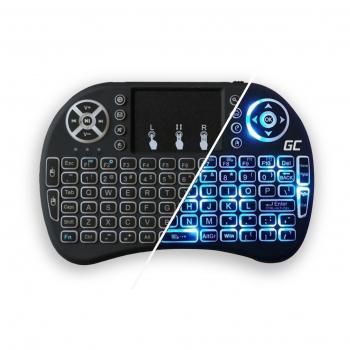 Bezprzewodowa Podświetlana Klawiatura Green Cell ® z Touchpadem