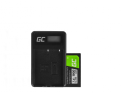 Bateria i ładowarka BCH-1 Green Cell ® do Olympus BLH-1, OM-D E-M1 Mark II, Grip HLD-9 7.4V 1900mAh