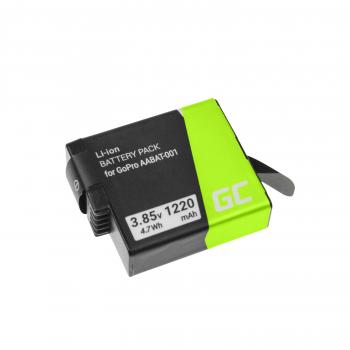 Akumulator Bateria Green Cell AABAT-001 AHDBT-501 do GoPro Hero 5 6 7 Black Silver White 3.85V 1220mAh