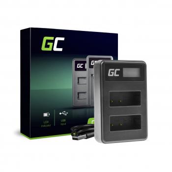 Podwójna ładowarka LC-E17 Green Cell ® do Canon LP-E17, EOS 77D 200D 770D 760D M3 M5 M6 Rebel T6i Rebel T6s X8i, 8.4V 5W 0.6A