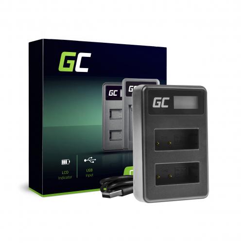 Podwójna ładowarka LC-E17 Green Cell ® do Canon LP-E17, EOS 77D, 750D, 760D, 8000D, M3, M5, M6, Rebel T6i, Rebel T6s