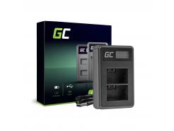 Podwójna ładowarka DE-A83, DE-A84 Green Cell ® do Panasonic DMW-MBM9, Lumix DMC-FZ70, DMC-FZ60, DMC-FZ100, DMC-FZ40, DMC-FZ47
