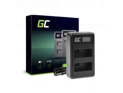 Podwójna ładowarka LC-E8 Green Cell ® do Canon LP-E8 EOS Rebel T2i, T3i, T4i, T5i, EOS 600D, 550D, 650D, 700D, Kiss X5, X4, X6