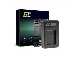 Podwójna ładowarka DE-A65BB Green Cell ® do Panasonic DMW-BCG10 Lumix DMC-TZ10 DMC-TZ20 DMC-TZ30 DMC-ZS5 DMC-ZS10 DMC-ZX1