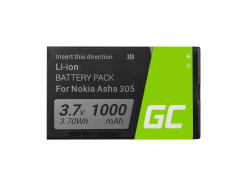 Bateria Green Cell BL-4U do telefonu Nokia 206 E66 500 3120 5530 5730